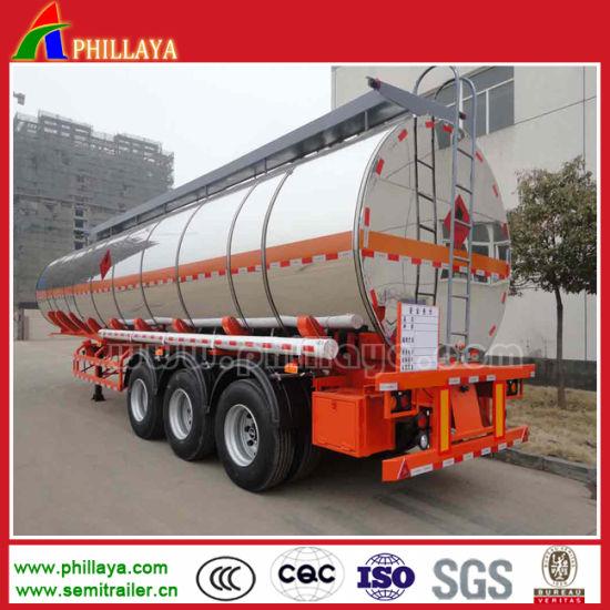 3 Axles Aluminum Mg Alloy 30-60cbm Oil Fuel Semi Tanker