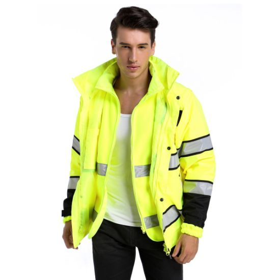 Transportation Reflective Safety Clothing High Visibility 5 in 1 Jacket