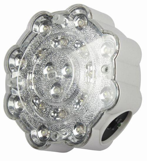 Dawn IP65 LED Emergency Twin Spot Light Fire Rechargeable Spotlight Flashlight (HK-4199)