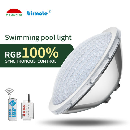 IP68 Waterproof 100% RGB Synchronous Control 316L Stainless Steel 18W PAR56 LED Swimming Pool Lamp