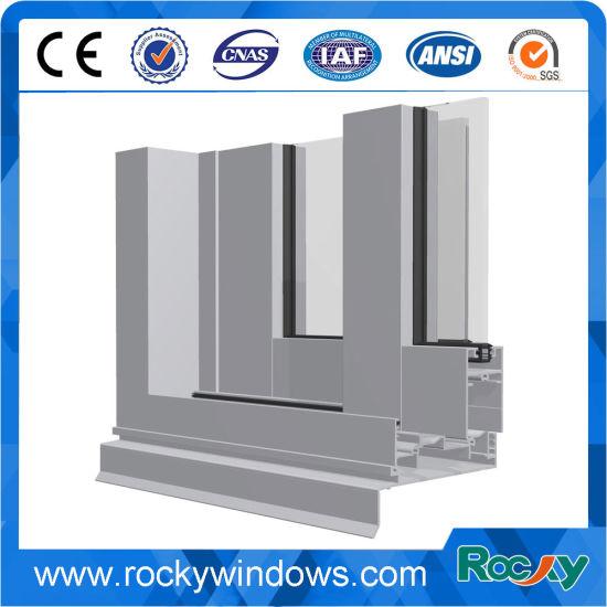 Rocky Standard Size Aluminum Window Frame Extrusion Wooden Grain Aluminum