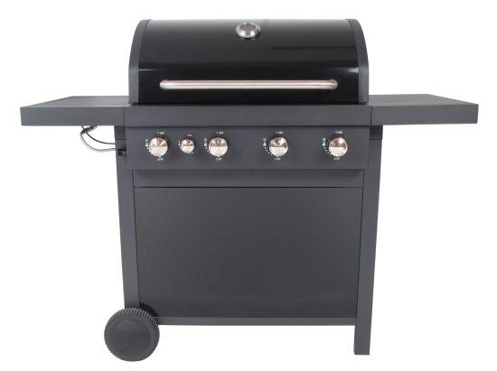 Four Burner Gas BBQ Grill with Side Burner, Ce, LFGB
