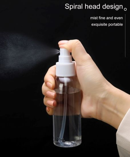 Factory Produced Wholesale Alcohol Cosmetic Pet Plastic Hand Sanitizer Spray Bottle