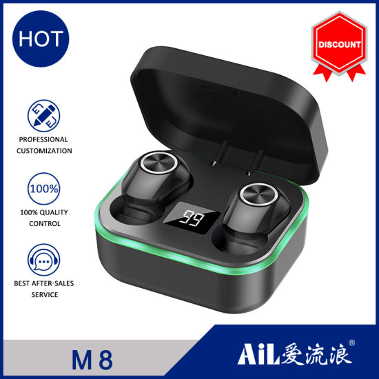 Smart Touch Bluetooth 5.0 True Wireless Stereo Bluetooth Headset with Gaming Noise Cancelling