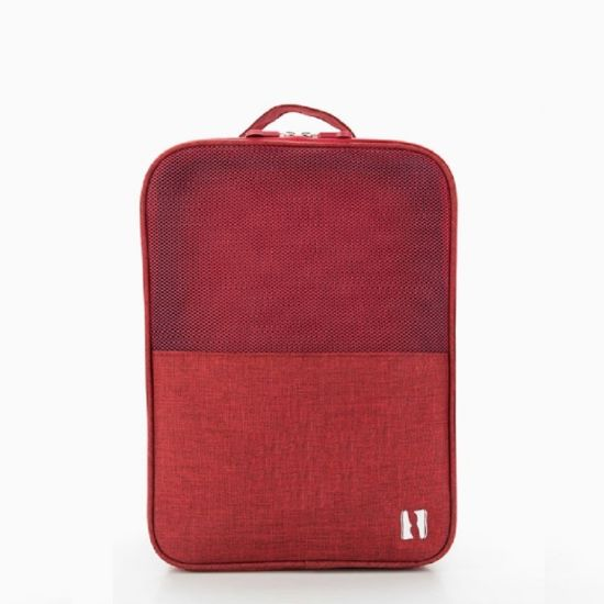Multi-Fuctional Red 420d Polyester Sports Travel Shoes Bag