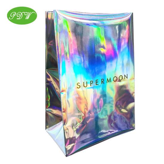 Luxury Laser Paper Bag, Shopping Gift Bag Custom