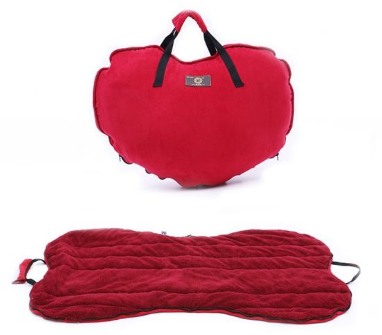 High Quality PP Cotton Suede Cloth Portable Dog Bed Pet House Supply