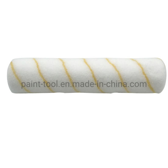 Polyester Material White with Gold Stripe Brush Roller