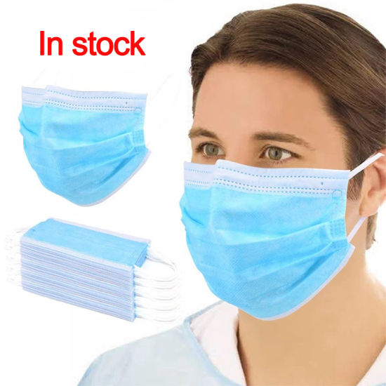 Factory Price Earloop 3 Ply Disposable Protective Face Mask