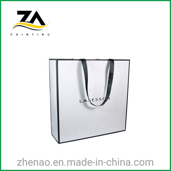 Custom Fancy High Quality Small Jewelry Art Paper Carrier Bags