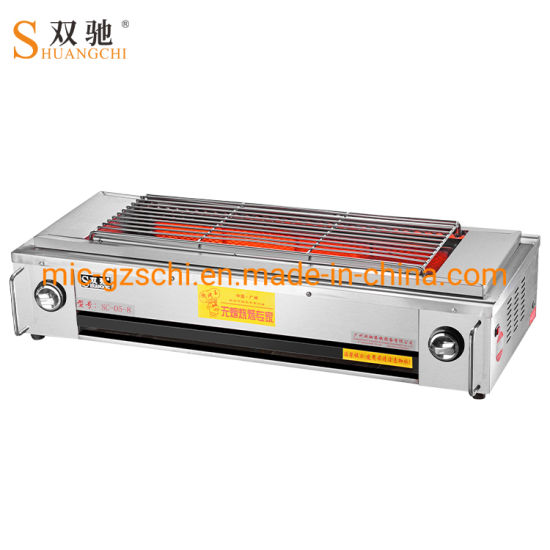 Smokeless Barbecue Stove with Fan Gas BBQ Grill pictures & photos