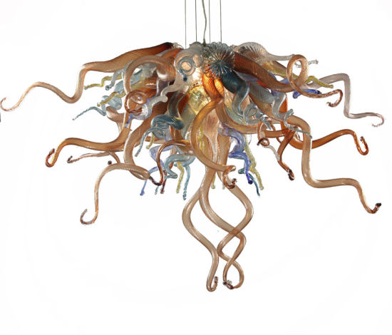 China Hand N Glass Chandelier, Chihuly Like Chandeliers