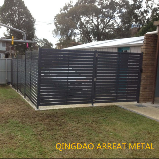 Poewder Coated Welded Secruity Stainless Steel Garden Slat Fencing and  Fence Panel Decorative Customized Residential/Commercial High Quality
