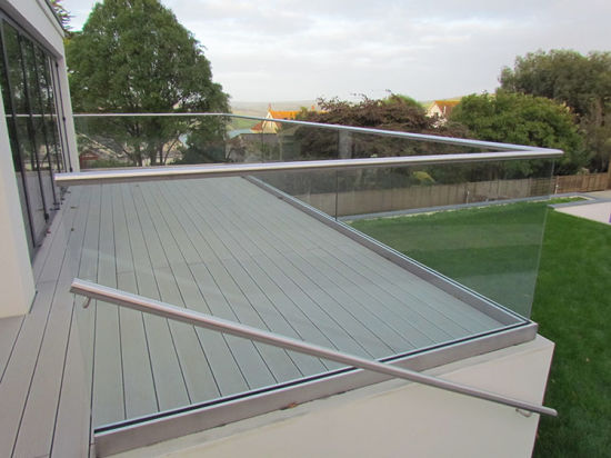 U Channel Aluminium Frameless Glass Railing for Deck/Balcony pictures & photos