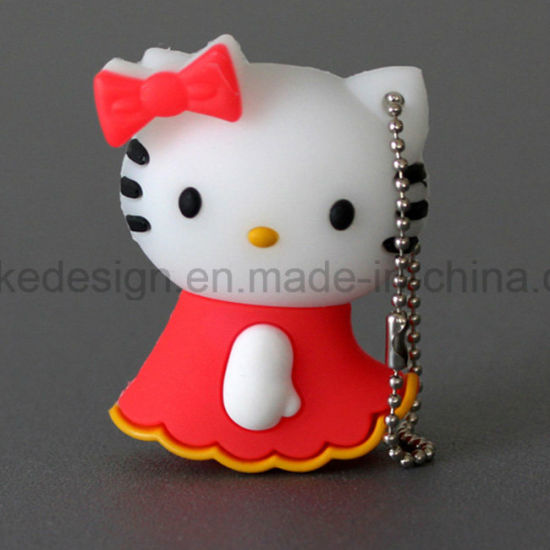 Hello Kitty Colorful USB Flash Drive for Promotion (UL-PVC001) pictures & photos
