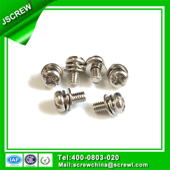 Sem Screw M3*10 Pan Head Stainless Machine Screw pictures & photos