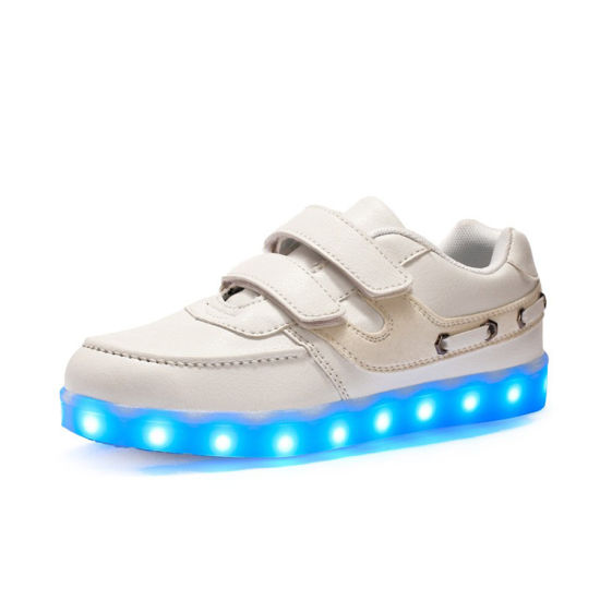 School Boy Casual Boat Shoes LED Flashing