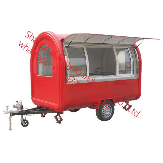 Outdoor Food Cart Snack Food Cart Hot Dog Cart Food Trailer