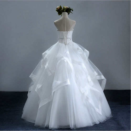 China 2017 Princess Frills Satin Tulle Sweetheart Bridal Wedding ...