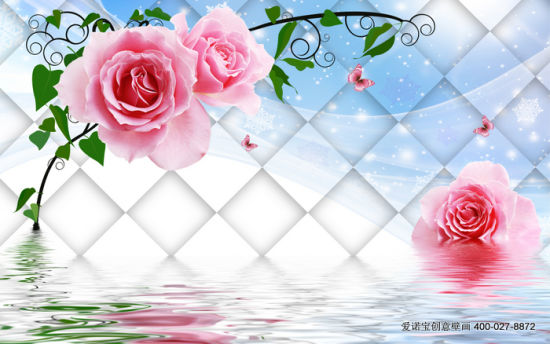 Hot Sales Newest Pink Rose Printed on Wall Panel for Home Decoration Painting pictures & photos