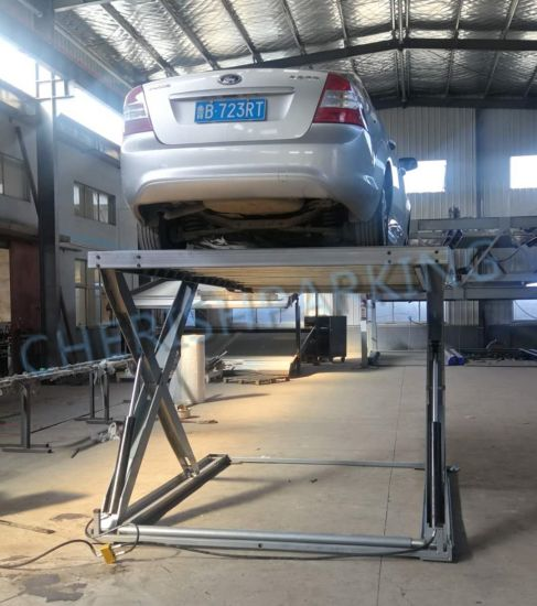 Hot Sell Good Quality Two Hydraulic Scissor Vehicle Parking Lift