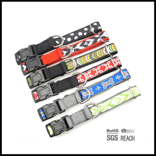 Fashionable Pattern Satin Ribbon Nylon Pet Dog Collars