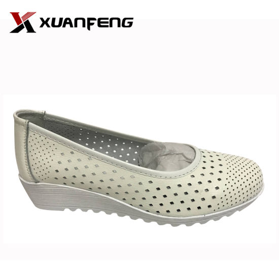 b695d6c8618 Fashion Ladies′ Genuine Leather Loafers Casual Shoes with TPR Sole pictures    photos