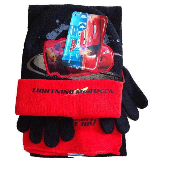 Fashion Leather Wool Warm Gloves