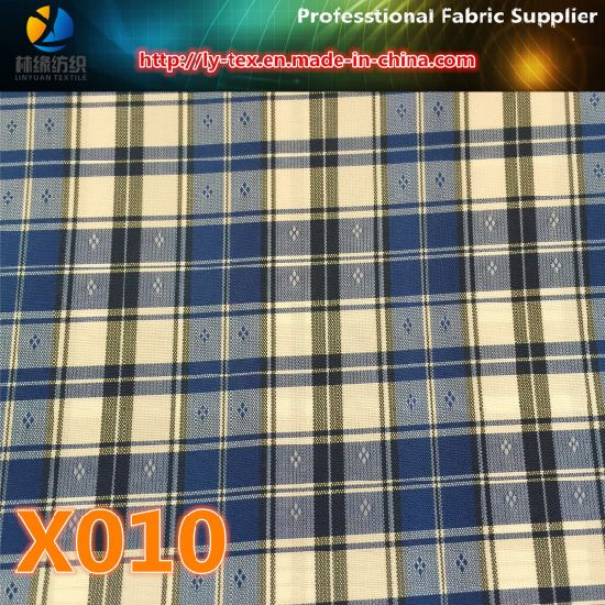 Goods in Stock! Polyester Cation Check Fabric (X008-10) pictures & photos