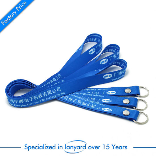 OEM Custom Hot Sale Sublimation Lanyard with Safety Buckle pictures & photos