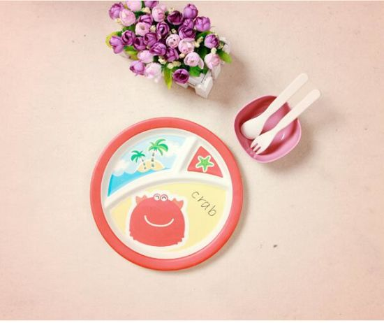 FDA Approved Bamboo Fiber Dinnerware Set for Kids (YK-KS008) pictures & photos