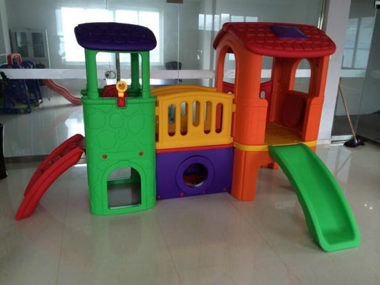China Kids Indoor Playhouse with Slide Children′s Play Equipment ...