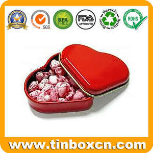 Heart-Shaped Candy Tin Box, Heart Tin Candy Can pictures & photos