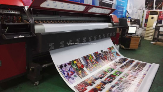 3.2m 4PCS 512I Konica Head Solvent Printer Flex Banner /Vinyl /Sticker Indoor Outdoor Printing Machine pictures & photos