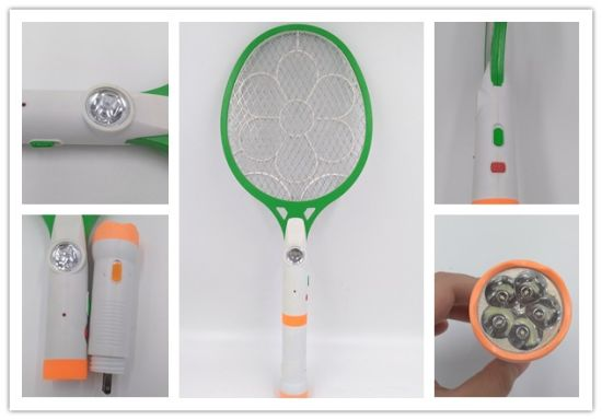 High Quality Durable Electronic Inect Racket, Mosquito Killer Bat with Separable LED Torch pictures & photos