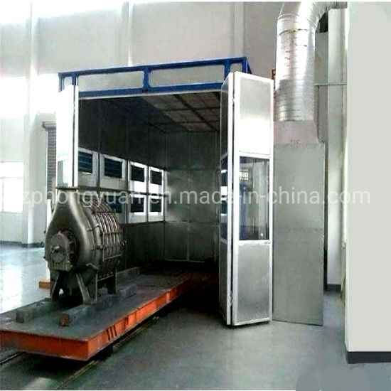 Bus Spraying Booth with Ground Rail and Gas Burner