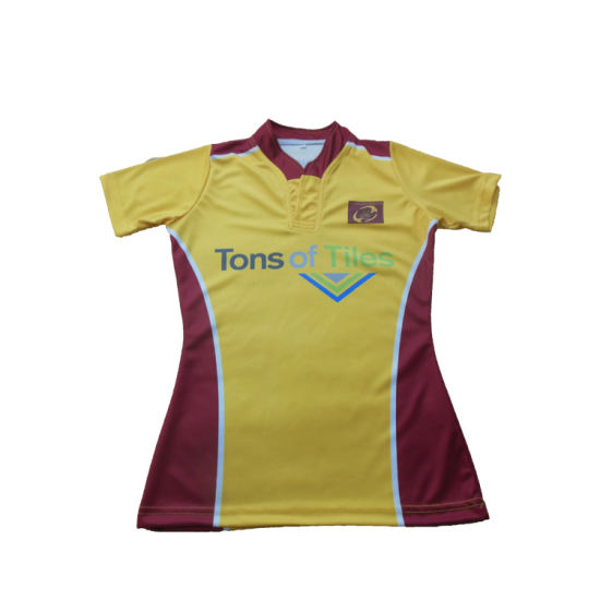 China Custom Latest Design Men Rugby Jersey Striped New
