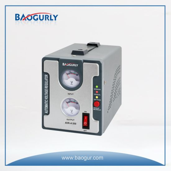 220V Meter 500va Electronic Automatic Voltage Stabilizer