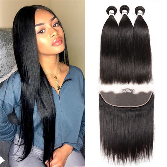 Wholesale Human Virgin Hair Lace Frontal with Factory Price, Straight Human Hair 150% 180% Density Lace Frontal pictures & photos