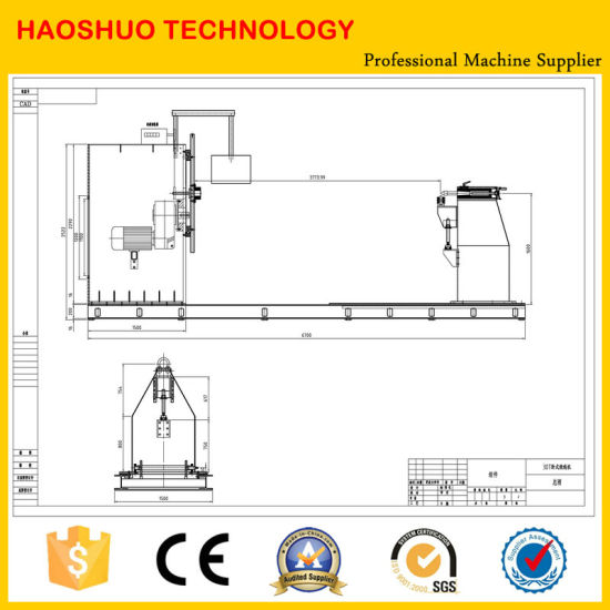 CNC Control Horizontal Cabling Coil Winding Machine for Transformer pictures & photos