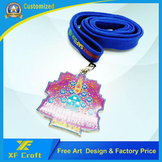 Professional Customized PVC Rubber Medal with Ribbon (XF-MD11) pictures & photos