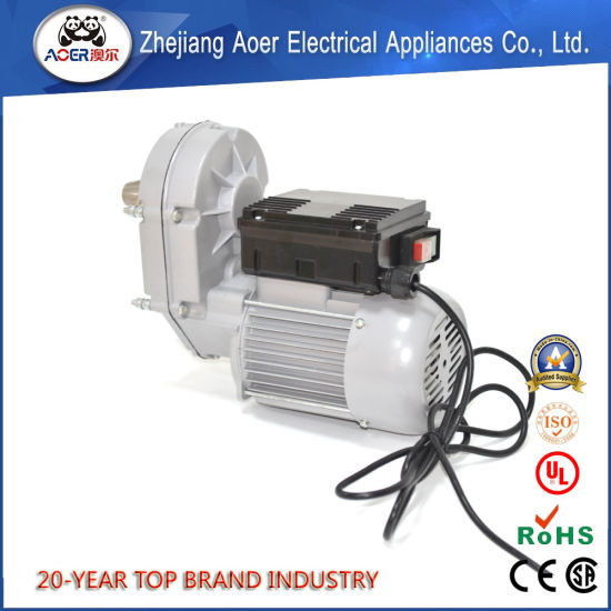 China Best Quality Supplier Single Phase 1HP AC Electric Gear Motor for Concrete Mixer pictures & photos