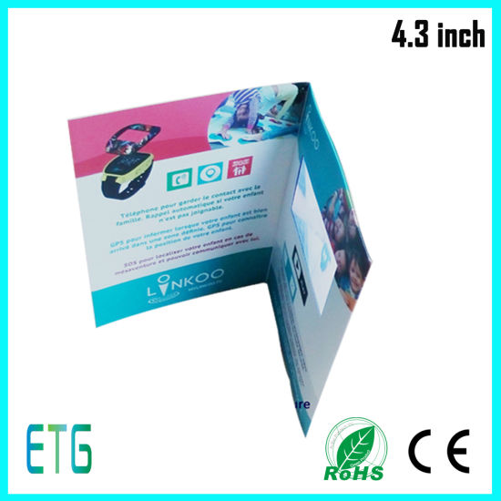 4.3 Inch LCD Screen Video Greeting Card for Promotion pictures & photos