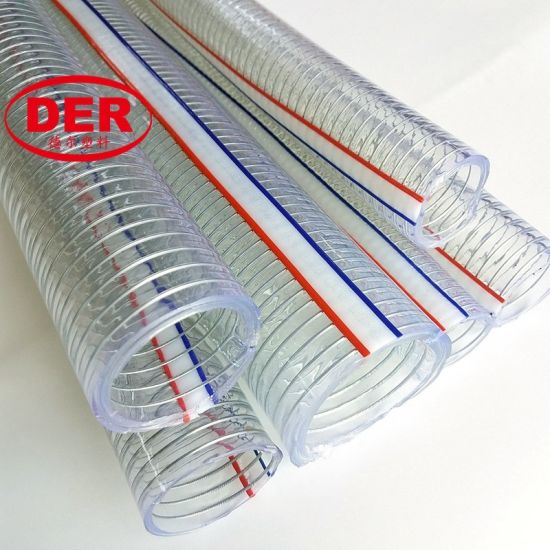 Transparent Flexible Spiral Steel Wire Reinforced Vacuum Suction Hose