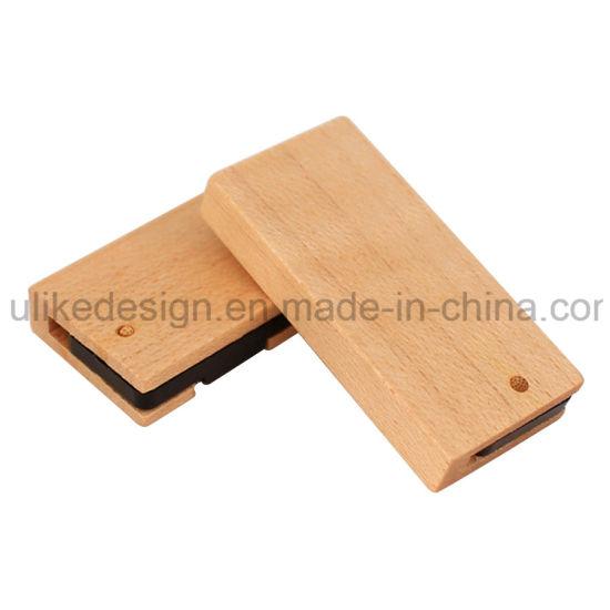 Wooden Material Swivel USB Stick/ Flash Drive Customized Logo Business Gift USB Pen Drive