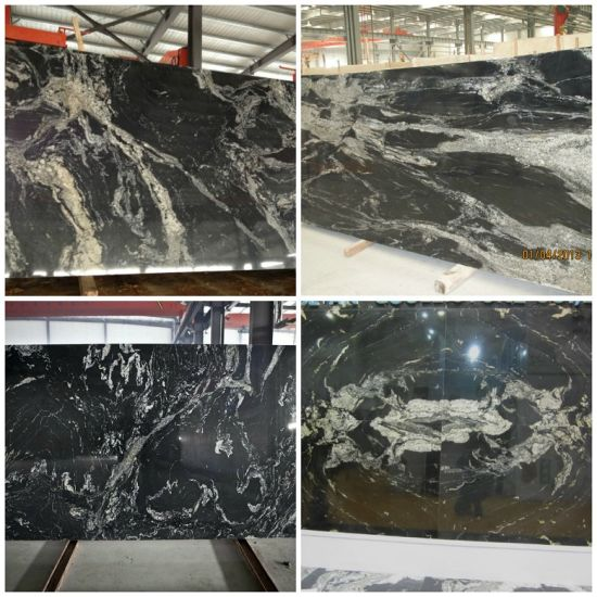 Nero Fantasy Black Granite With White Veins Stair Step Pictures Photos