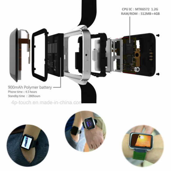 China Support Download Apps 3G/GPS Smart Watch with Camera