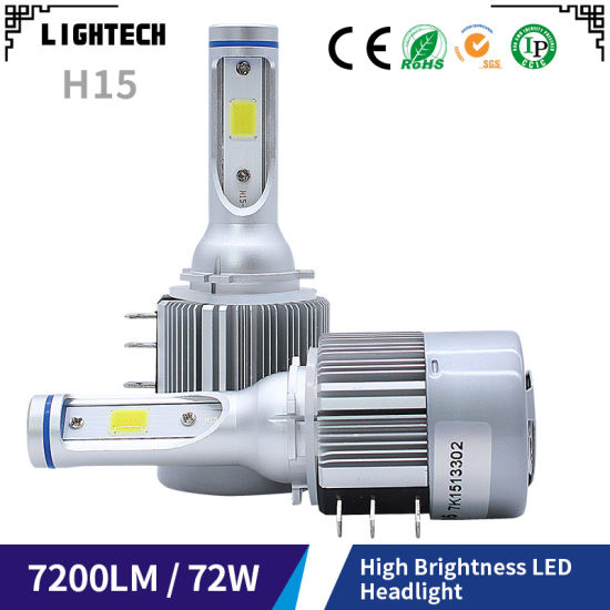 China Automobiles H15 LED Headlight Bulbs with Motorcycles Auto Car