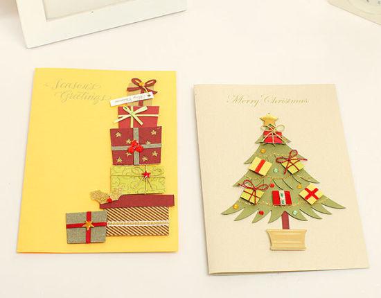 factory big quality manufacture handmade 3d christmas card