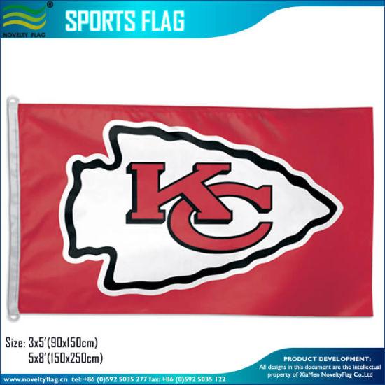 China Kansas City Chiefs Official Nfl Football Team Logo 3 X5 Flag